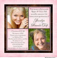 homeschool graduation announcements grad announcement sweet christian girl pink chocolate
