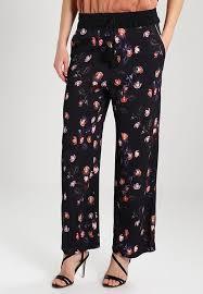 mos mosh mos mosh poppy trousers black zalando co uk