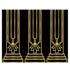 art deco great gatsby 20s column backdrop party decoration photo