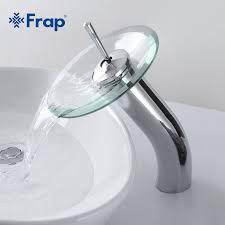 Aliexpresscom  Buy FRAP Brass Circle Waterfall Glass Bathroom - Bathroom basin faucets