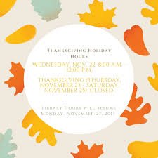 thanksgiving hours gordon m cook woodbridge cus library
