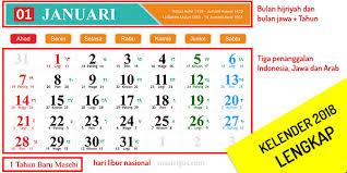 Gambar Kalender 2018 Lengkap Desain Kalender Tahun 2018 Lengkap Jawa Hijriyah Dan Indonesia