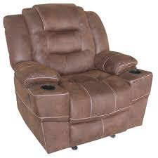 Youth Camo Recliner Discover Home Brown Suede Glider Recliner At Mills Fleet Farm