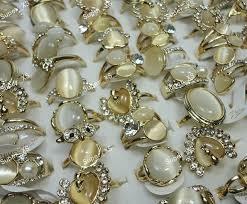rings wholesale images 100pcs natural cat eye stone rhinestones women gold rings jpg