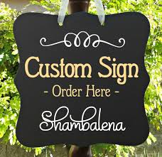 custom order sign door sign personalized sign business sign