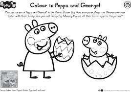 peppa u0026 george easter colouring scholastic kids u0027 club