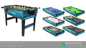 sunnydaze 40 inch 10 in 1 multi game table dq s033 youtube