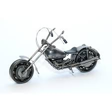 Harley Davidson Home Decor Catalog Davidson Motorcycle Model 30cm Metal Sculpture Gray Medium