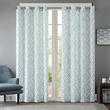 curtains basic preset blue trellis curtains on taupe and teal