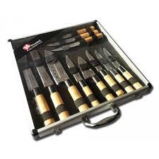 ustensile de cuisine japonais pradel excellence valise de 11 couteaux type japonais nc pas