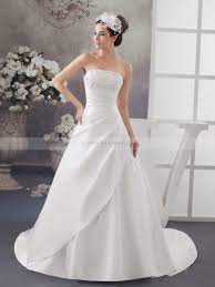 Satin Wedding Dresses Margherita Princess Cut Strapless Satin Wedding Gown With