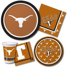 longhorns paper plates and napkins at lewis