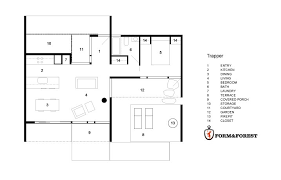 House Plans Under 800 Square Feet by The Trapper A 738 Sq Ft Modern Prefab Cabin From Form U0026 Forest