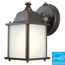 dusk to dawn porch light hton bay 1 light oil rubbed bronze outdoor dusk to dawn wall