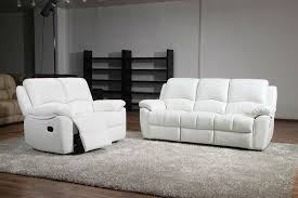 White Leather Recliner Sofa White Leather Reclining Sofa 43 About Remodel Dining Room