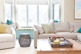 Modern Family Living Room Den Interior Design With Furnishing - Modern family living room