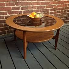 mid century round coffee table mid century modern solid teak round coffee table urban dwellers