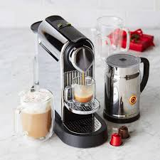 Sur La Table Coffee Makers Nespresso Citiz U0026 Milk Espresso Machine Chrome Sur La Table
