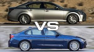 xe lexus gs 350 2016 lexus gs vs 2016 bmw 3 series youtube