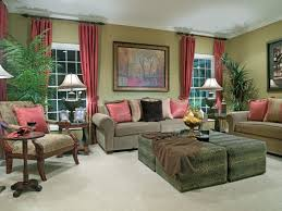 Curtain Ideas For Modern Living Room Decor Green Modern Living Room Decorating Ideas With Simple Brown Sofa