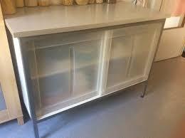 buffet vaisselier cuisine meuble cuisine vaisselier buffet de cuisine en formica beige et