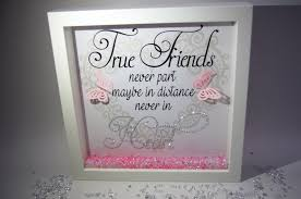 true friends never part sparkle crystal frame word art pictures