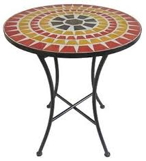 Mosaic Bistro Table Garden Bistro Table And Chairs Bistro Set Metal Bistro