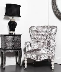 black velvet bedroom chair this vintage style deep button back light grey crushed velvet