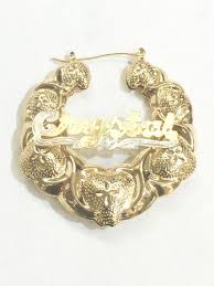 name hoop earrings new gold hoop earring with name jewellry s website