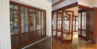 Folding Exterior Door Exterior Wood Bi Fold Doors Dynamic Architectural