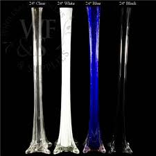 Centerpiece Vases Cheap Clear White Blue And Black 24