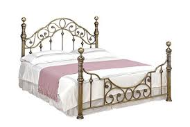 Brass Double Bed Frame Canterbury Antiqued Brass Victorian Vintage Style Metal Bed Frame