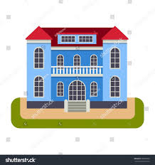 House Front View House Front View Vector Illustration Stock Vector 505565563