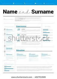 resume minimalist cv resume template simple stock vector 504575263