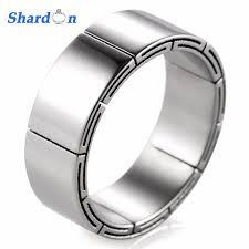 mens unique wedding ring shardon new style men s titanium ring carved unique grooves