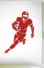 best 25 sports decals ideas on pinterest ohio state hockey football running back wall decal 0301 football theme decal sports decal running