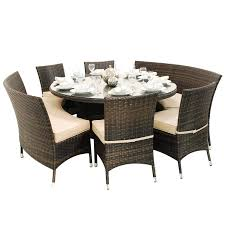 8 Seat Dining Room Table Round Dining Table With Bench