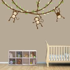 wall art baby wall designs baby boy nursery art print nursery wall 10 monkey decals for walls one monkey swinging monkey wall decal