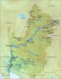Map Of The United States And Mexico by List Of Dams In The Colorado River System Wikipedia