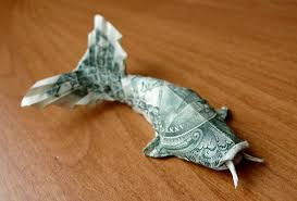 Origami Koi Fish Dollar Bill - dollar bill origami by craigfoldsfives bored panda