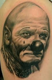 funny clown tattoo design photos pictures and sketches