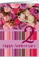 2nd wedding anniversary 2nd wedding anniversary cards from greeting card universe