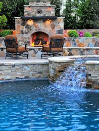 fascinating pool with fireplace gallery best idea home design