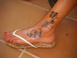 female ankle tattoos foot tattoo by isammimi on deviantart