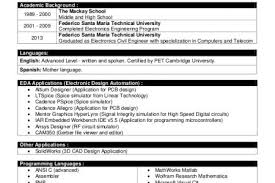 Embedded Engineer Resume Sample by Entry Level Embedded Engineer Resume