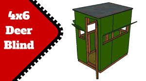 2 Person Deer Blind Plans Deer Stand Plans 4x6 Youtube