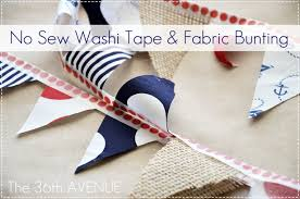 no sew fabric and washi tape bunting the 36th avenue