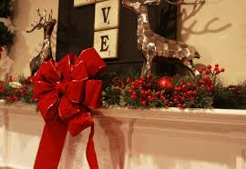 big christmas bows fireplace christmas decoration ideas of interior decor