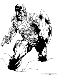 captain america classic marvel comic coloring coloring pages