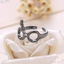 Harry Potter Wedding Rings by Discount Harry Potter Jewelry Lightning Flash Scars Eye Glass